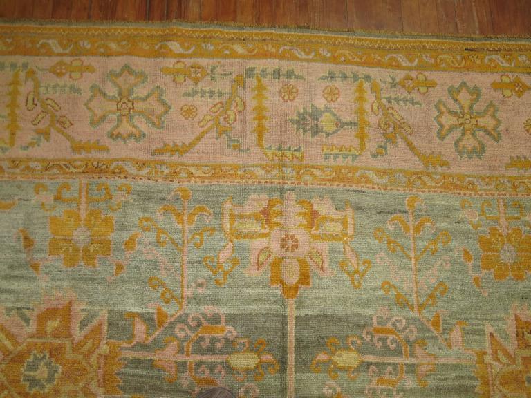 Antique Turkish Oushak Oriental Rug For Sale At 1stdibs