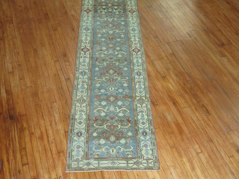 Wool Persian Malayer Long Runner For Sale