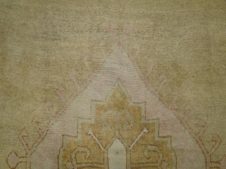 Vintage Turkish Rug with pink accents 2