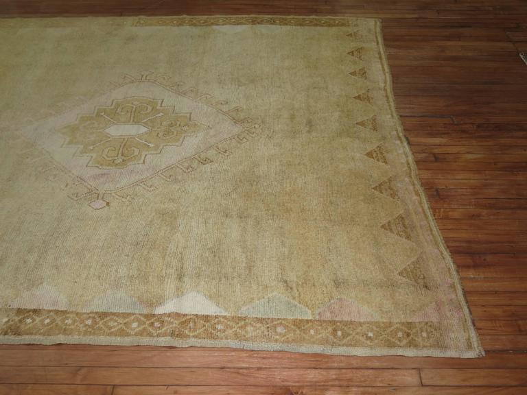 Vintage Turkish Rug with pink accents 3