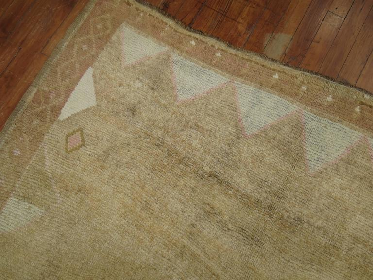 Vintage Turkish Rug with pink accents 4