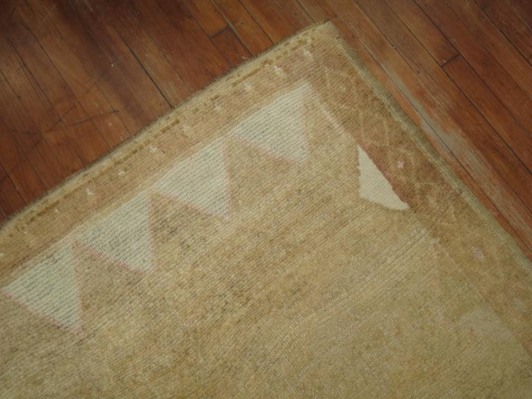 Vintage Turkish Rug with pink accents 6