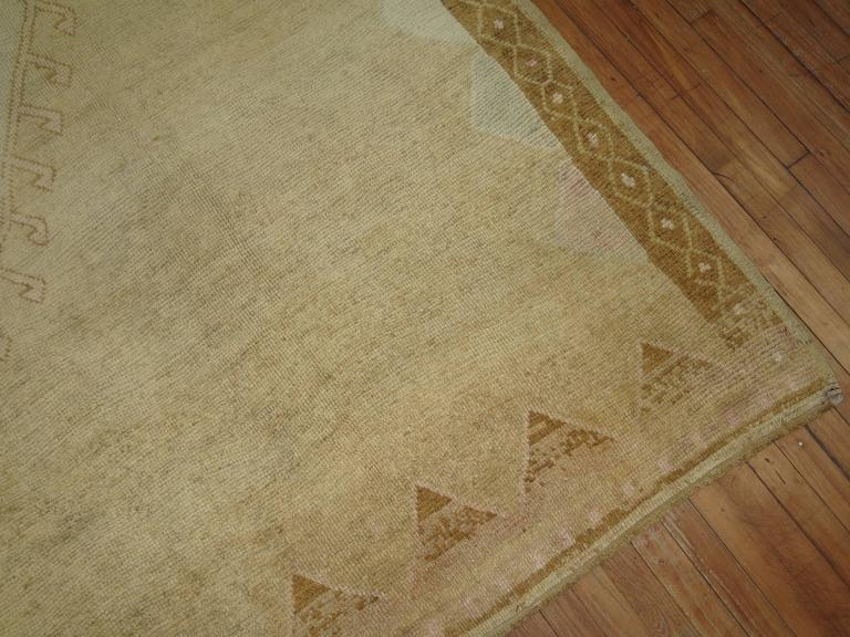 Vintage Turkish Rug with pink accents 5