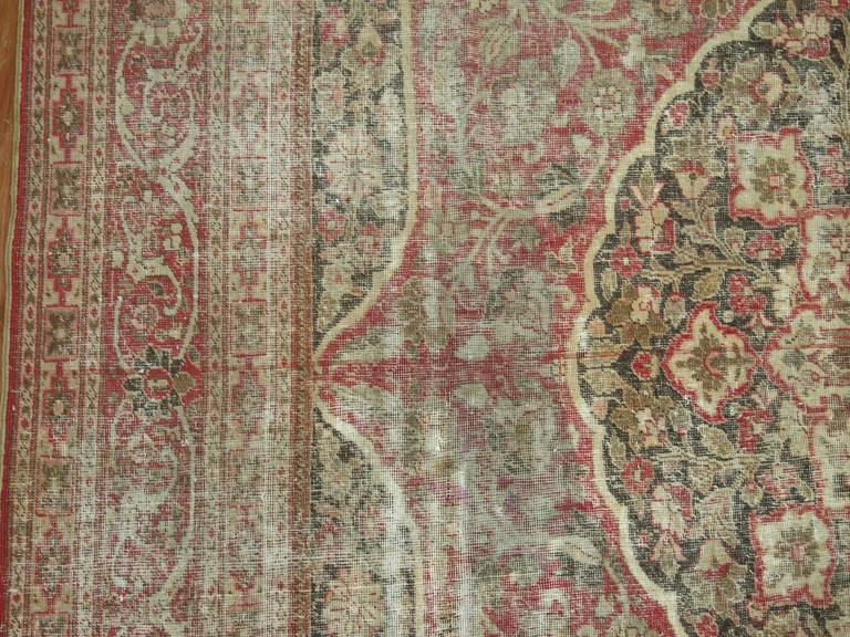 Shabby Chic Persian Tabriz Rug For Sale 1
