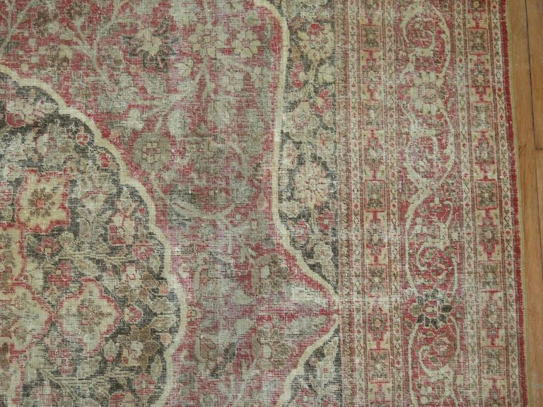 Wool Shabby Chic Persian Tabriz Rug For Sale