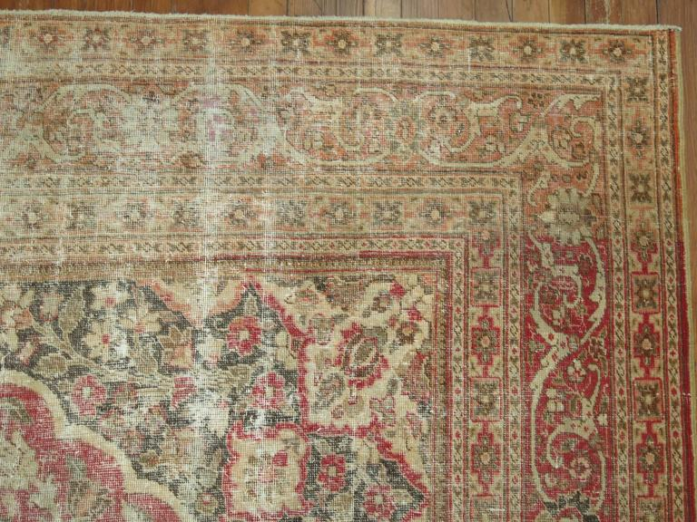 American Colonial Shabby Chic Persian Tabriz Rug For Sale