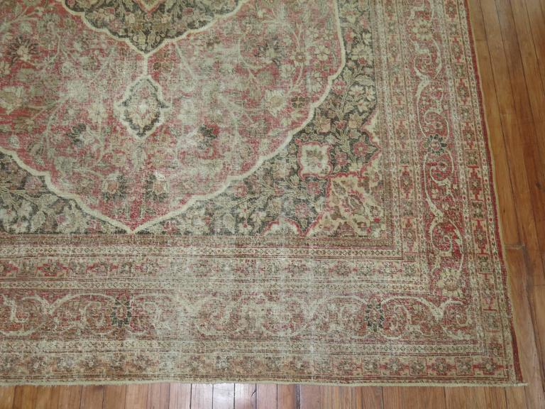 Shabby Chic Persian Tabriz Rug For Sale 2