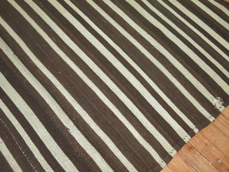 Vintage Striped Kilim In Excellent Condition For Sale In New York, NY