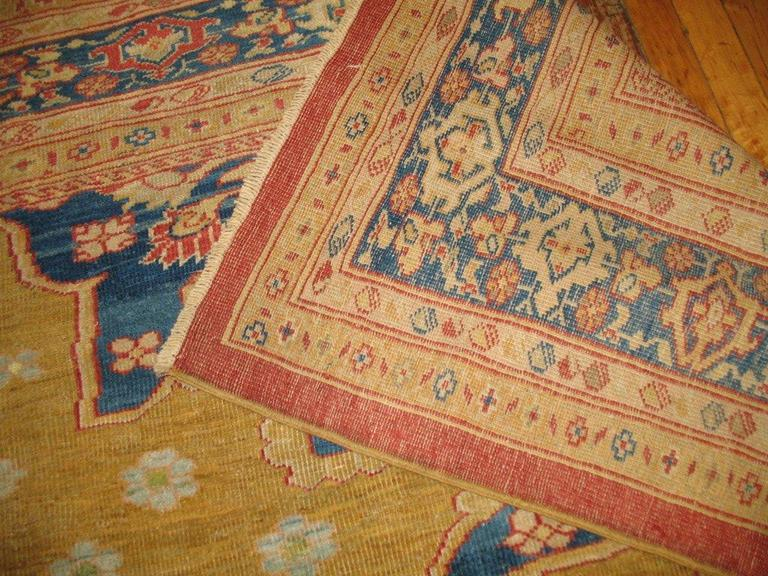 Hand-Knotted Ziegler Mahal Rug For Sale