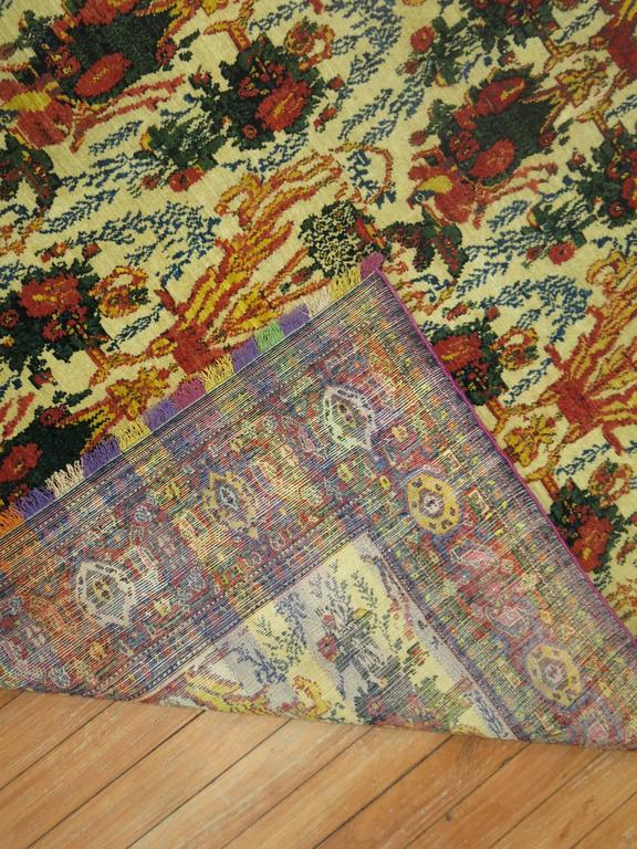Antique Persian Senneh Rug With Silk Highlights And