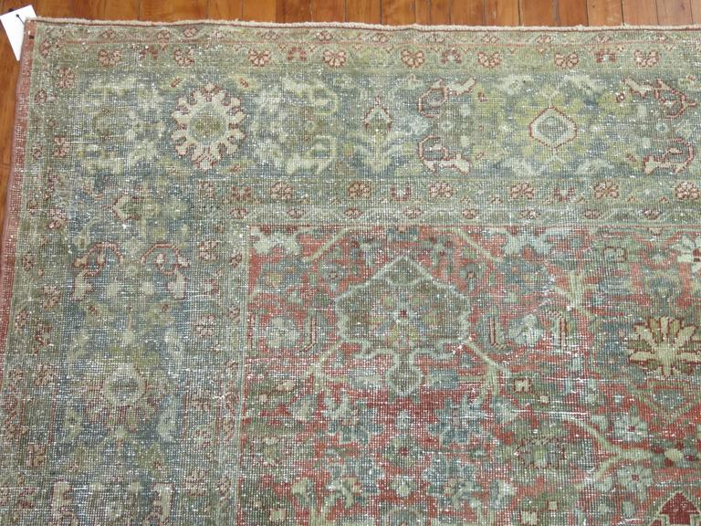20th Century Shabby Chic Persian Mahal Carpet For Sale
