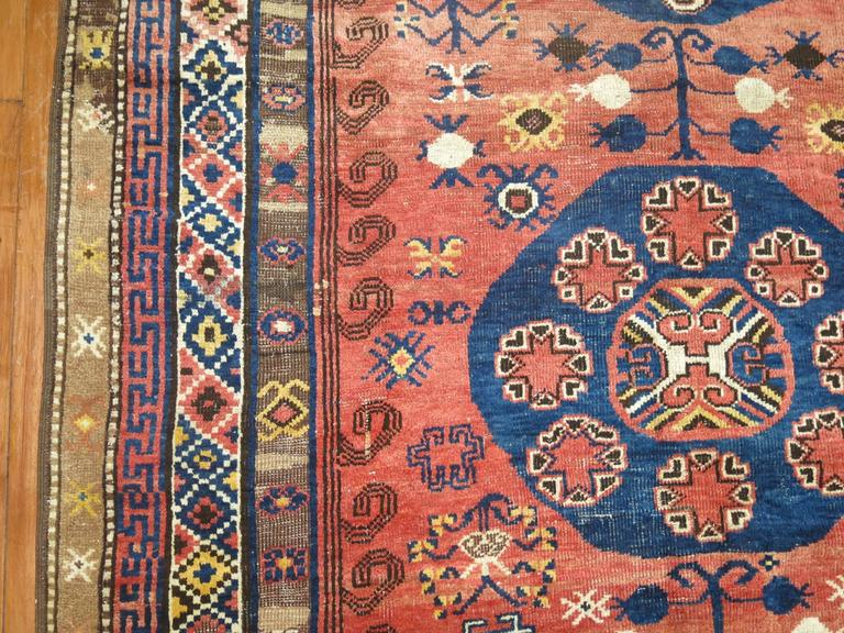 Vintage Turkish Kars Rug Influenced by 19th Century Khotan Rugs In Good Condition For Sale In New York, NY