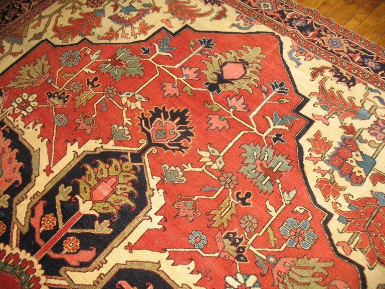 Antique Persian Heriz Serapi Rug For Sale At 1stdibs