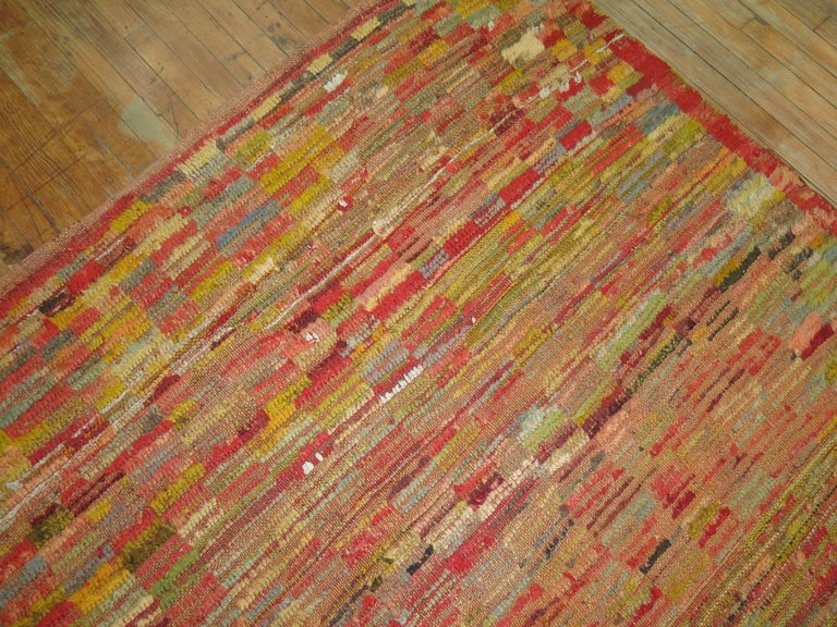 Vintage Turkish Tulu Rug In Excellent Condition For Sale In New York, NY
