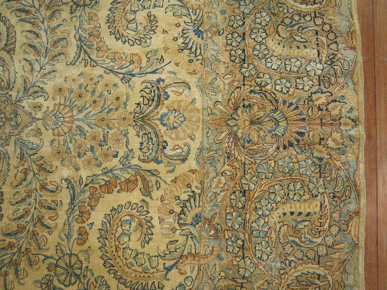 Hand-Knotted Antique Persian Kerman For Sale