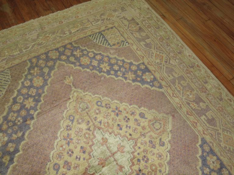 Khotan Lavender Vintage Samarkand Gallery Rug For Sale