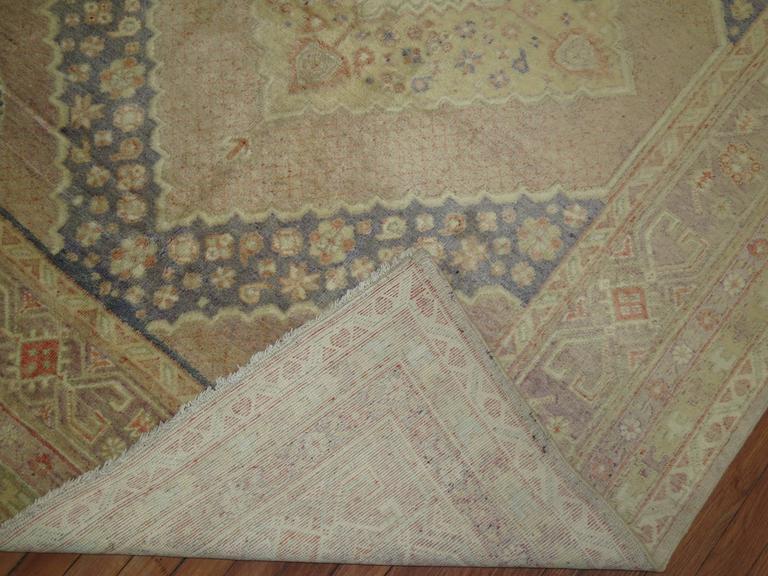 20th Century Lavender Vintage Samarkand Gallery Rug For Sale