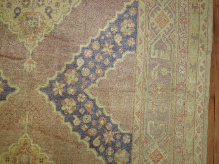 Wool Lavender Vintage Samarkand Gallery Rug For Sale