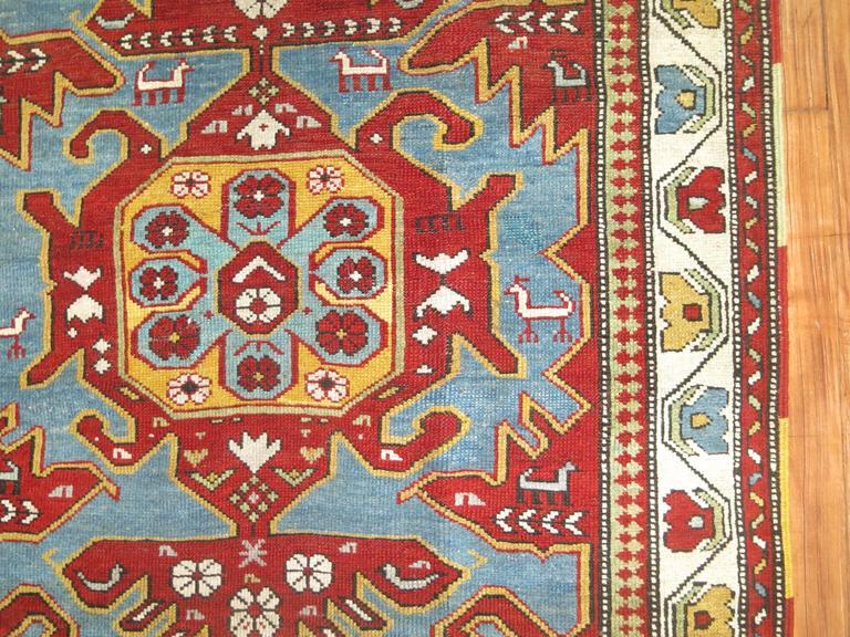 Antique Caucasian Rug 8