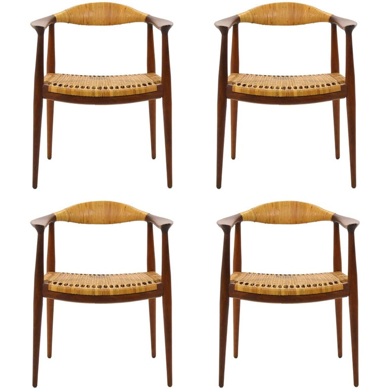 "Set of Four Round or ""The"" Chairs in the Manner of Hans Wegner"