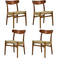 Hans Wegner Set of Four CH23 Chairs by Carl Hansen & Søn