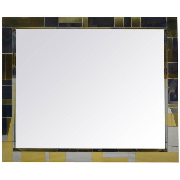 Paul Evans Cityscape Mirror For Sale
