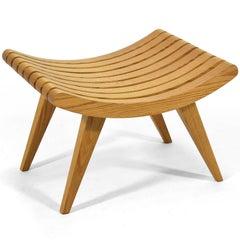 Edward Durell Stone Oak Bench