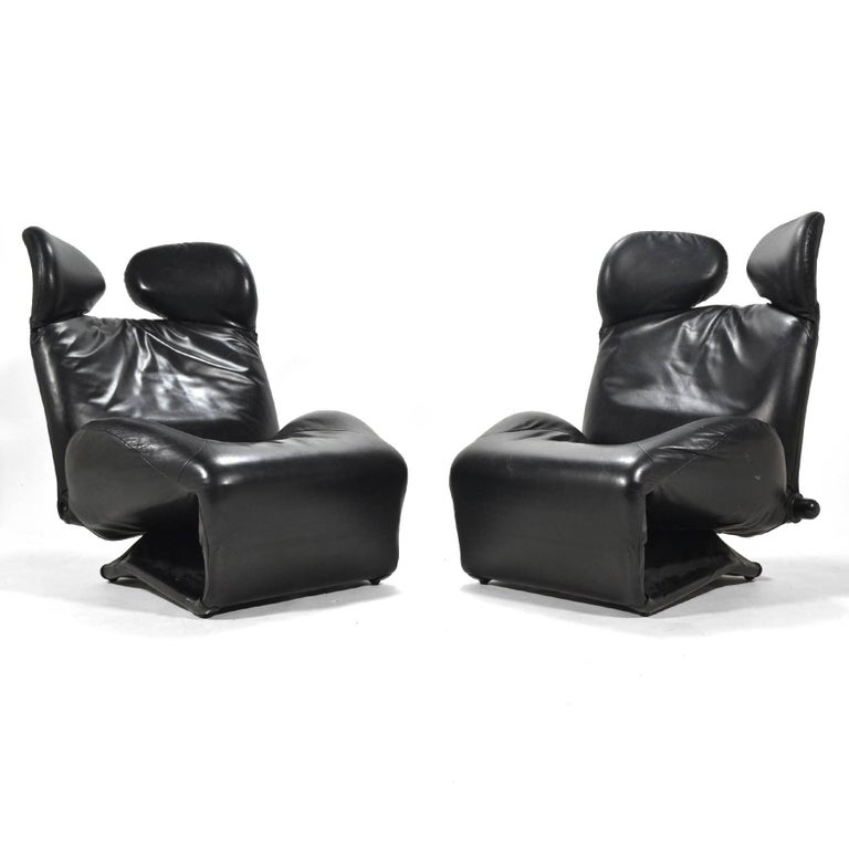 Toshiyuki Kita Wink Lounge Chairs by Cassina For Sale 2