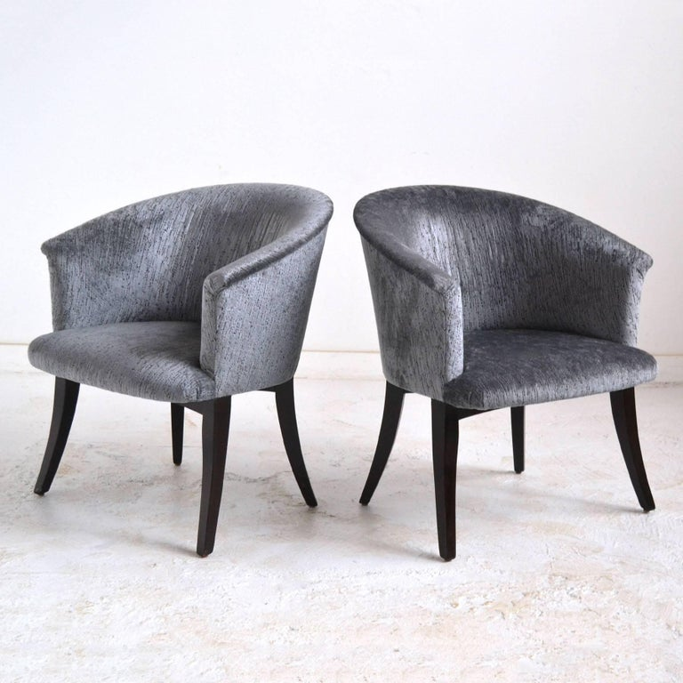 Mid-Century Modern Dunbar Curved-Back Lounge Chairs For Sale
