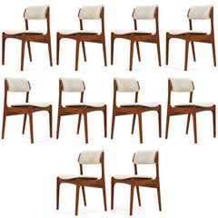 Erik Buch 'Model 49' Teak Dining Chairs, Set of Ten
