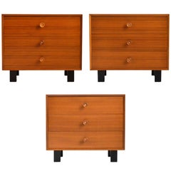 George Nelson Walnut Basic Cabinet Group Dressers