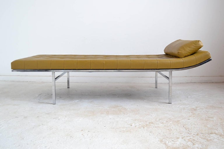 Plated Jules Heumann Chaise by Metropolitan For Sale