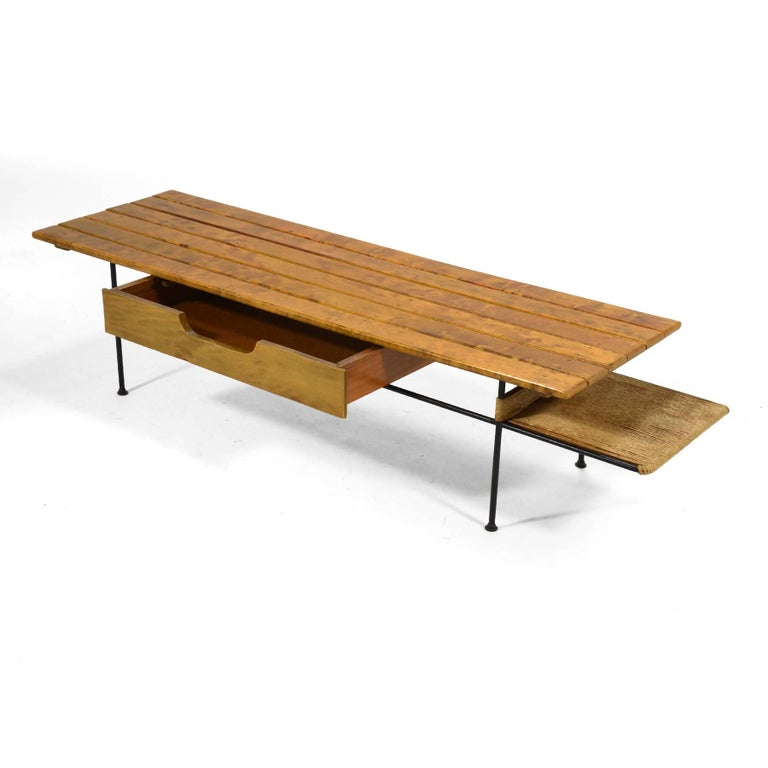 Papercord Arthur Umanoff Coffee Table or Bench For Sale