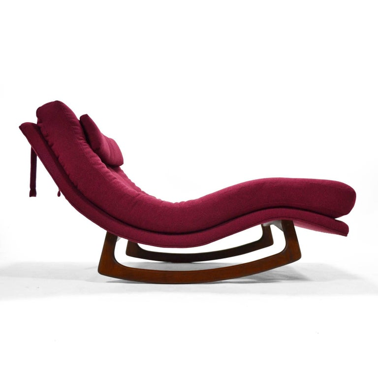 Mid-Century Modern Adrian Pearsall Rocking Chaise by Craft Assoc. For Sale