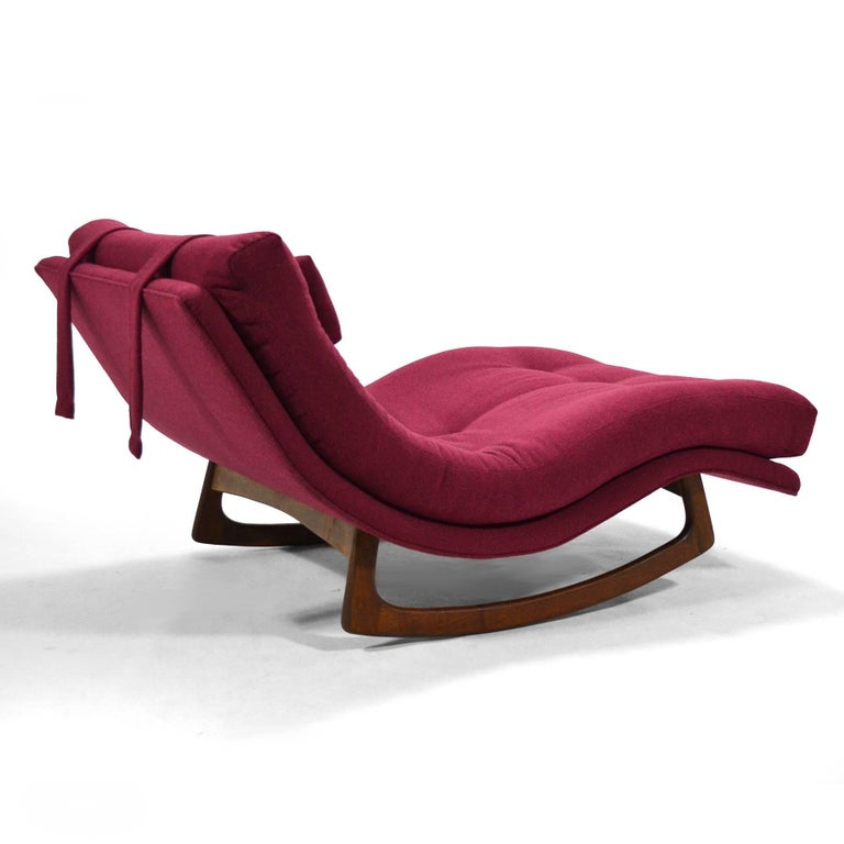 American Adrian Pearsall Rocking Chaise by Craft Assoc. For Sale