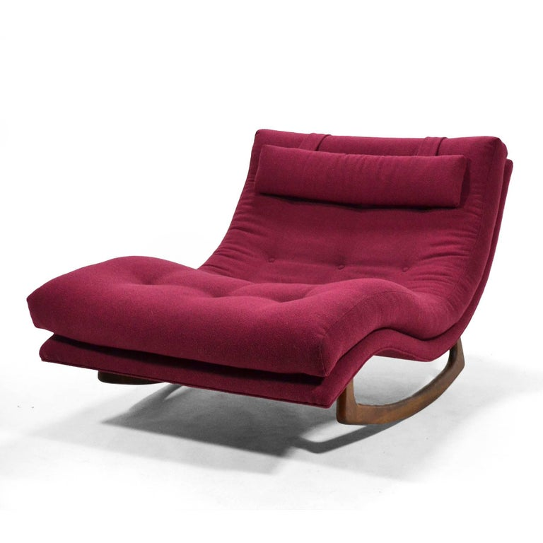 Adrian Pearsall Rocking Chaise by Craft Assoc. In Excellent Condition For Sale In Highland, IN