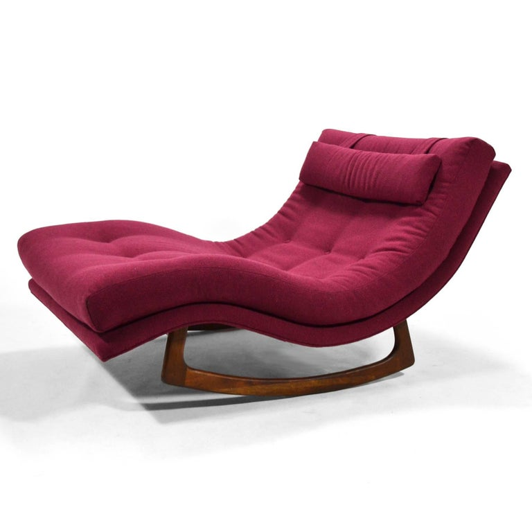 Mid-20th Century Adrian Pearsall Rocking Chaise by Craft Assoc. For Sale