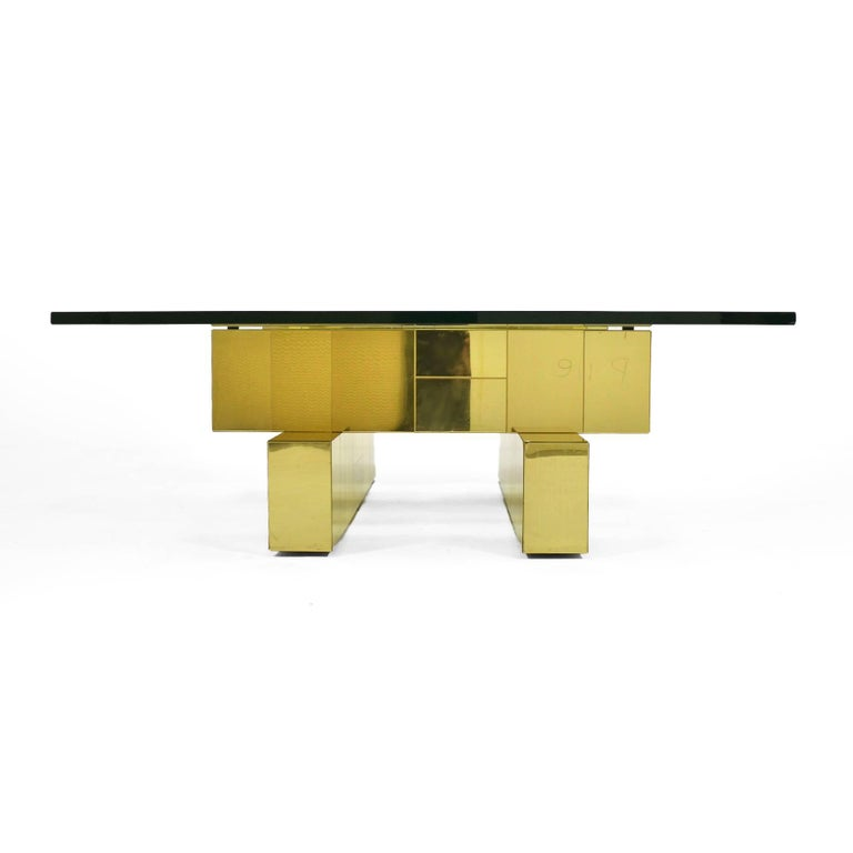 Paul Evans Cityscape Coffee Table by Directional For Sale 3