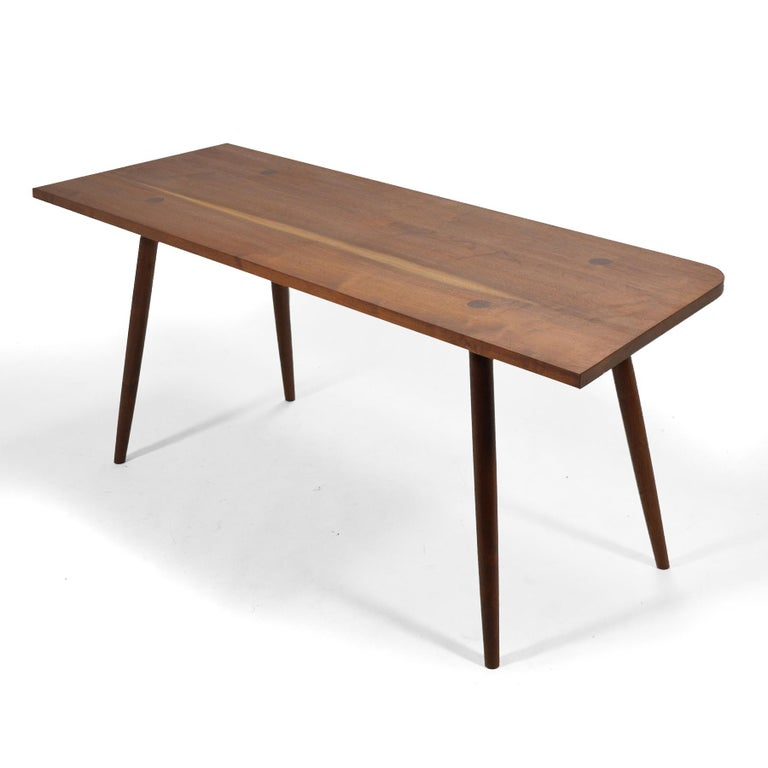 Robert Lovett Walnut Studio Craft Table or Desk In Good Condition For Sale In Highland, IN