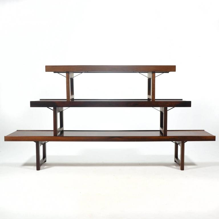 "Rosewood ""Krobo"" Bench by Torbjørn Afdal for Bruksbo Norway For Sale 4"