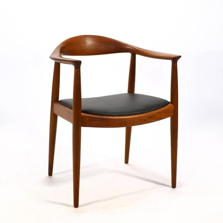 "Arguably the most important and best realized of Hans Wegner's chairs, the round back or ""The Chair"" was designed in 1948. Exquisitely constructed by cabinetmaker Johannes Hansen it's subtle beauty is matched by it's comfort. Made famous in the US"