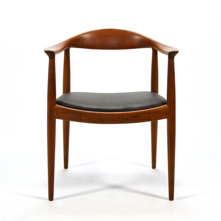 Danish Hans Wegner Round Chair/The Chair by Johannes Hansen