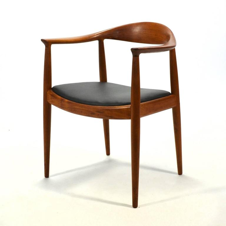Teak Hans Wegner Round Chair/The Chair by Johannes Hansen