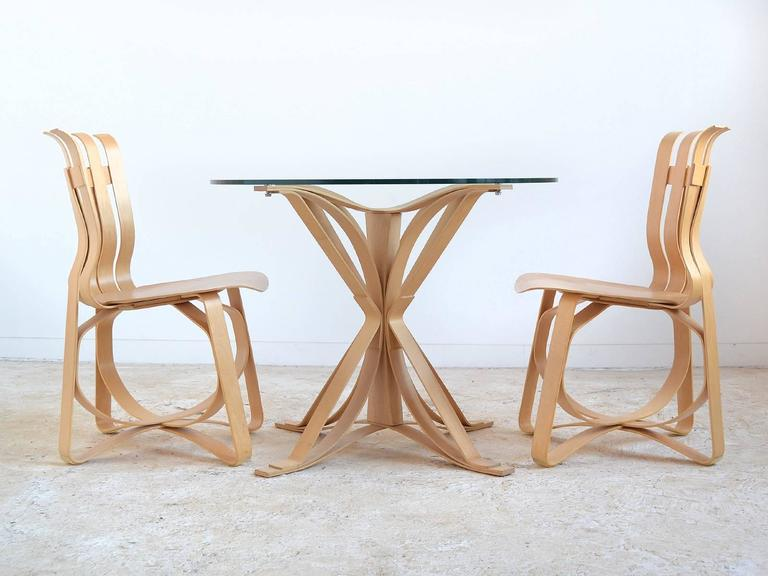 Frank Gehry Dining Table and Chairs by Knoll 2