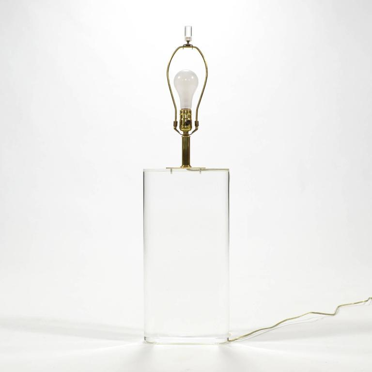 American Stunning Lucite Table Lamp in the Manner of Karl Springer For Sale