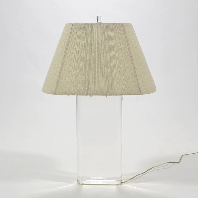 Stunning Lucite Table Lamp in the Manner of Karl Springer For Sale 2