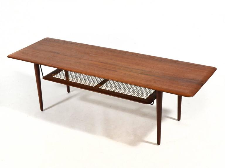 Peter Hvidt & Orla Mølgaard Nielsen Coffee Table with Cane Shelf 4