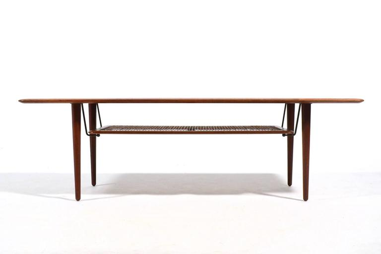 Peter Hvidt & Orla Mølgaard Nielsen Coffee Table with Cane Shelf 5