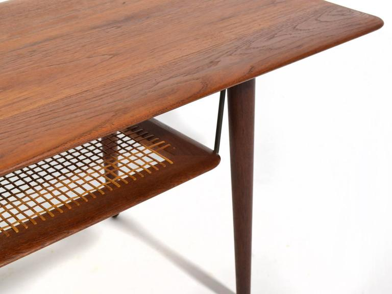 Peter Hvidt & Orla Mølgaard Nielsen Coffee Table with Cane Shelf 6