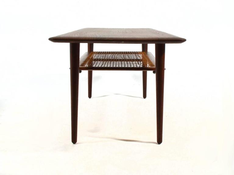 Peter Hvidt & Orla Mølgaard Nielsen Coffee Table with Cane Shelf 8